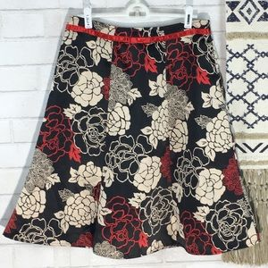 Notations Petite Floral Skirt Size PM